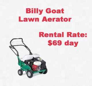 rental lawn aerator copy